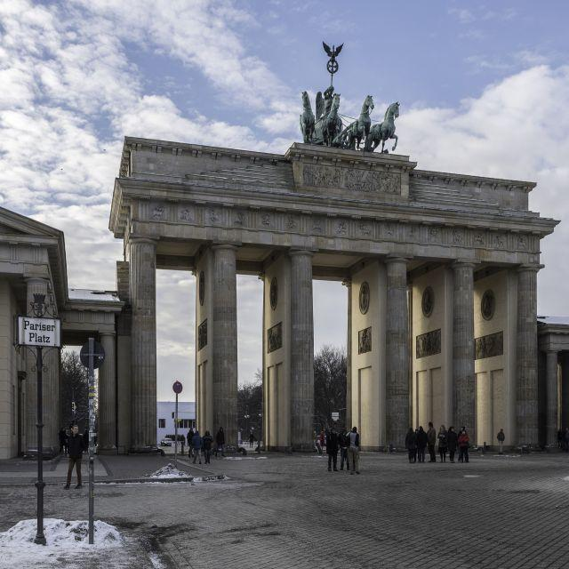 Ausblick auf das Brandenburger Tor in Berlin